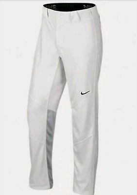 NEW Mens NIKE Vapor 1.0 White Grey Black Long Unhemmed Baseball Pants 636808