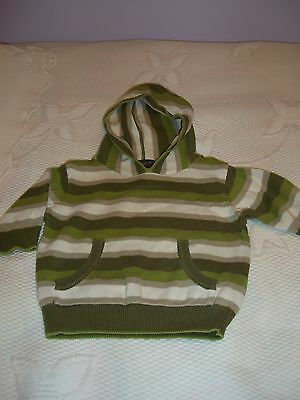 Babys Knitted Cotton Hooded Jumper 3-6 Months By Next
