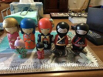 7Japanese Ceramic Dolls