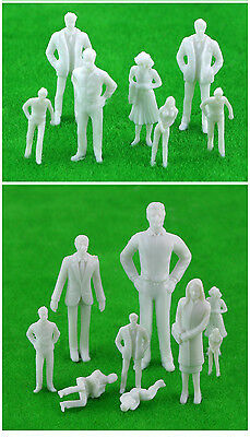 Architectural 35MM 1:50 Scale 3D Miniature Human Model Terrarium  Pack of 10
