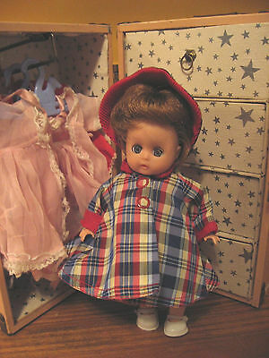 It's a Trunk Sale! Adorable Vtg Muffie Doll w/ Trunk & Fab Clothes/Accessories