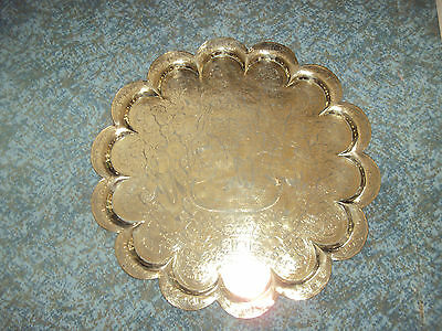 Indian brass tray