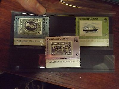 Set of three stamps from Tristan Da Cunha-MNH