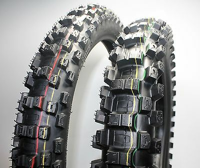 Dirt Bike Tyre set ENDURO Front & Rear 110/90-18 and 80/100-21 Off Road