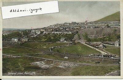 Vintage postcard of Nantyglo - General view including railway station - Monmouth