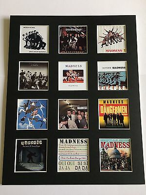 "MADNESS DISCOGRAPHY PICTURE MOUNTED 14"" By 11"" READY TO FRAME SKA"