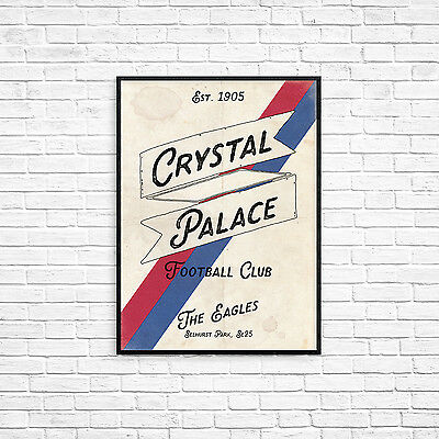 Crystal Palace Football Club A4 Picture Art Poster Retro Vintage Style Print