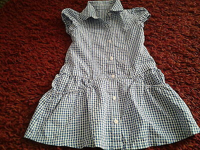 Girls blue and white school dress age 3 years