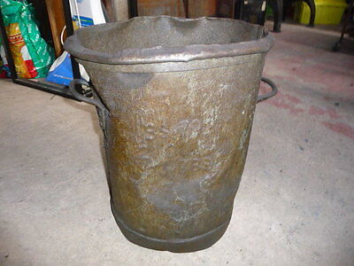 Vintage Industrial Foundry Dustbin-Lots Of Character- Several Available To Clear