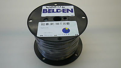 BELDEN 8522 008 1000, PVC Hook-up Wire 18 AWG Grey, 1000FT, New