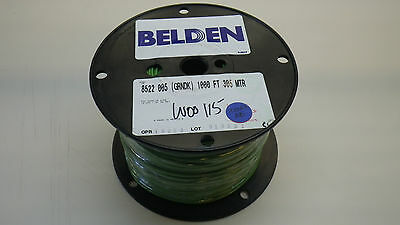 BELDEN 8522 005 1000, PVC Hook-up Wire 18 AWG Green, 1000FT, New