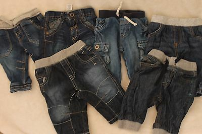 Baby Boys 0-3 Months Jeans Bundle - 6 Pairs