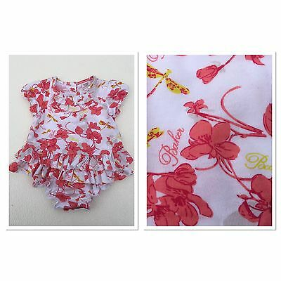 Ted Baker Floral Tutu Body suit Size 0-3 Months