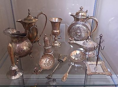 Antique Silver Plated 11 Piece Lot