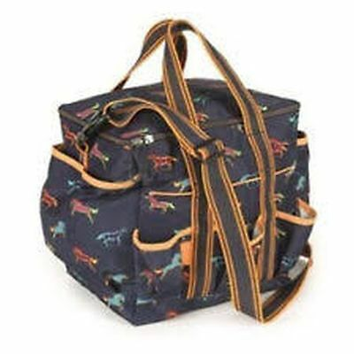 New Horse Cob Pony Stable Shires Horse Print Grooming Kit Bag (6500)