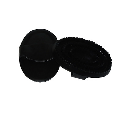 Bitz Curry Comb Sturdy Black Rubber with strap size small or large