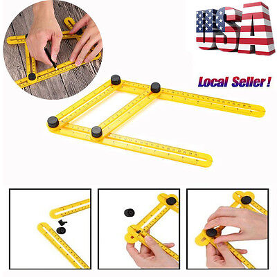 Angle-Izer Ultimate Tile & Flooring Template Tool Multi-Angle Ruler Measure Tool