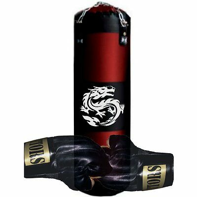 ZEN Sandbag Punching Bag Karate 120cm with Bracket + Fastening + GLOVES