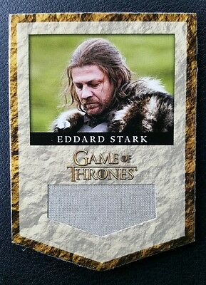 Rittenhouse Game Of Thrones Banner Relic Card House Stark RS1  /375