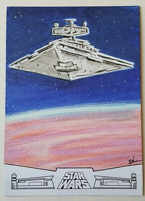 Topps Star Wars 40th Anniversary Star Detroyer  Sketch Card by Shane McCormack