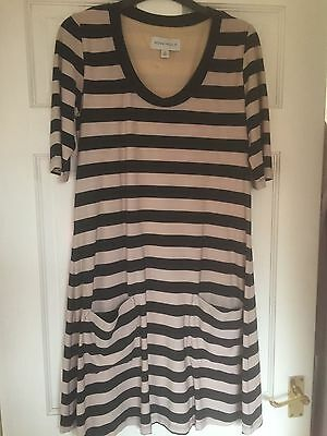 Ladies size 12 black & beige dress