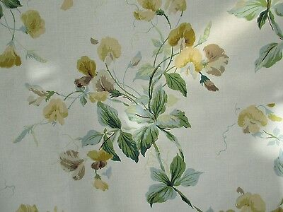 Vintage Colefax & Fowler Sweet Pea Design Cotton Fabric