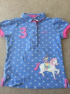 Joules girls polo shirt age 5 immaculate!
