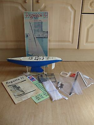 Mhd Regatta 51 1/38 Scale 12M America's Cup Class Yacht Kit Part Built