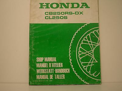 Honda Cb250Rs Cl250S  Manuel Atelier Workshop Manual De Taller