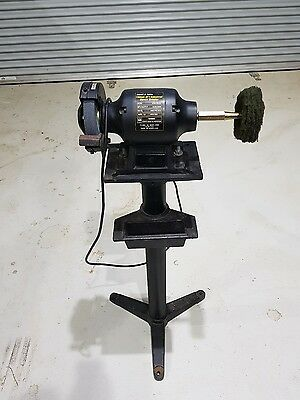 Abbott and Ashby bench grinder and polisher with stand