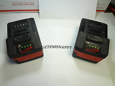 Snap On 18v Lithium Ion Battery Set For Impact Wrench/Drill/Light CTB8185 NICE