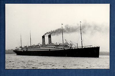 White Star Line - Adriatic (1906) - photograph postcard size