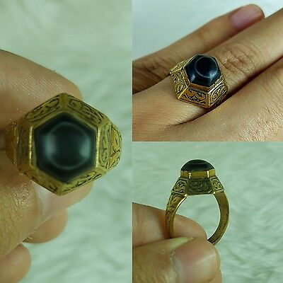 Ancient Sulemani Eyes Agate Gold Gilding Ring