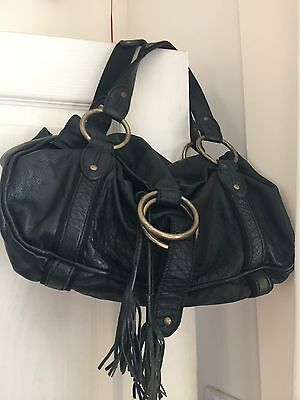 Next Real Leather Hand Bag Boho Hobo Shoulder Goth Witchy
