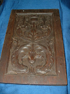 Nice Unusual Antique Carved Wooden Panel