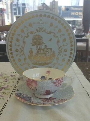 Wedgwood Bone China Cuckoo Tea Story Tea Cup And Saucer - Blue