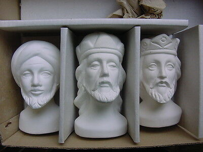 Lee Wards Ceramic Craft - 3 Wisemen and Holy Family Set - Vintage