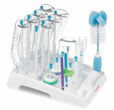 Munchkin Deluxe Baby Bottle Drying Rack & Munchkin Bottle & Teat Brush