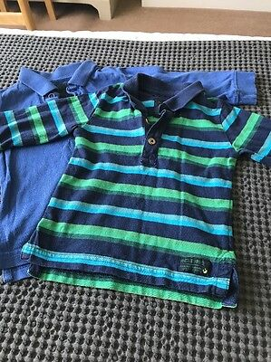 Pair Of Next Long Sleeve Polo Shirts - 12-18 Months