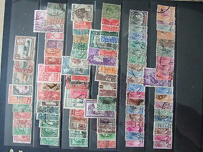 Gv-Gvi C/w & Gb Collection 100 Stamps - See Scan