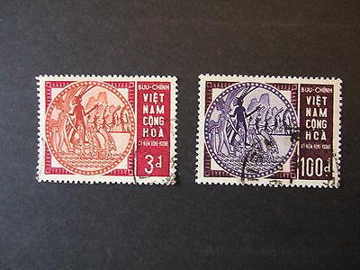 SOUTH VIETNAM - SG s231-2 HUNG VUONG USED SET CAT £15