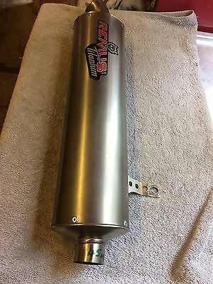 Remus Titanium Evolution Exhaust Slip On Can Oval 45mm