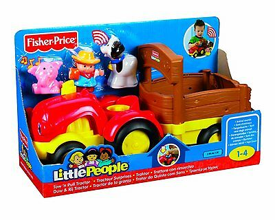 Fisher Price Little People Traktor mit 3 Figuren und Sound-Effecten!