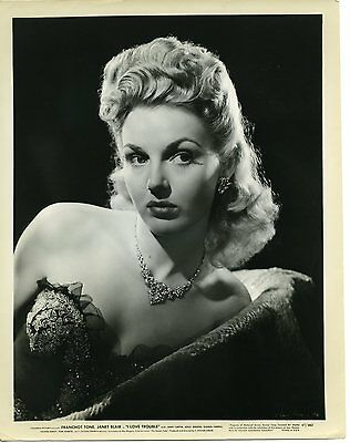 Janis Carter - 8x10 BW Vintage Photo