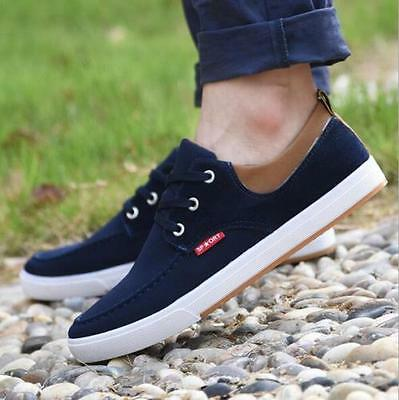 Fashion Casual Men 's Canvas Shoe Sleeves shoes Moccasin Slip On Loafers size9.5