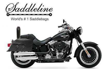 Saddleline Harley-Davidson Fatboy FLSTF leather saddlebags / LARGEST Panniers