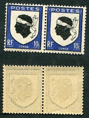 Paire FRANCE timbres neufs TB** YT n° 755 : Armoiries de CORSE - 1946