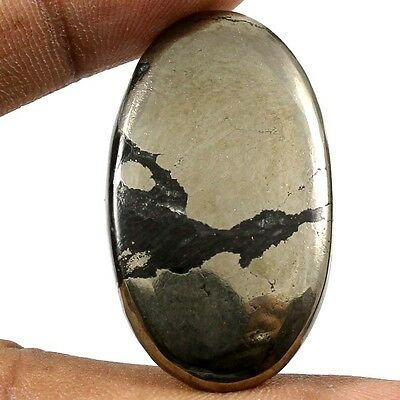 55.75ct Untreated Lovely 100% Natural Apache Gold Pyrite Oval Cabochon Gemstone