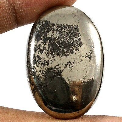 67.05cts Untreated Lovely 100% Natural Apache Gold Pyrite Oval Cabochon Gemstone