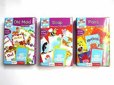 Children's playing cards snap holiday family travel game fun set 3 packs NEW kid
